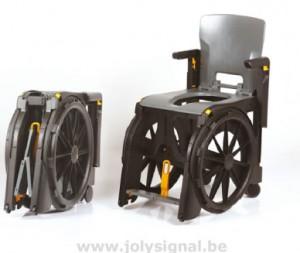 Fauteuil roulant pliable de douche et toilettes - Devis sur Techni-Contact.com - 1