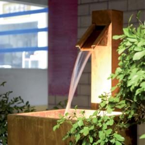 Fontaine de jardin en acier corten - Devis sur Techni-Contact.com - 1