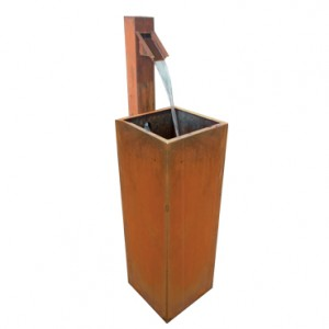 Fontaine de jardin en acier corten - Devis sur Techni-Contact.com - 2