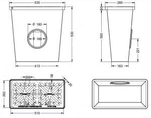 Caniveau grille rabattable  - Devis sur Techni-Contact.com - 2