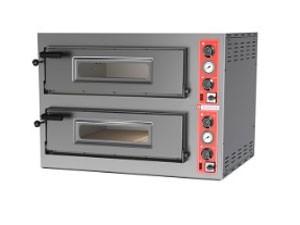 Four à pizza électrique 2 chambres de cuisson 2 x 9 - Devis sur Techni-Contact.com - 1