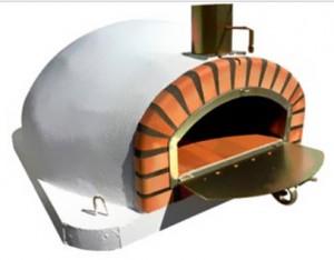 Four à pizzas traditionnel couleur brique - Devis sur Techni-Contact.com - 2