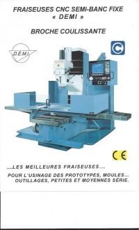 Fraiseuse de précision semi banc fixe DF4-CNC - Devis sur Techni-Contact.com - 1