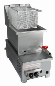 Friteuse à gaz 1 panier 6 Litres - Devis sur Techni-Contact.com - 1