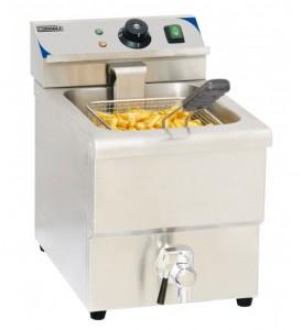Friteuse électrique avec vanne de vidange capacité 8 litres - Devis sur Techni-Contact.com - 1