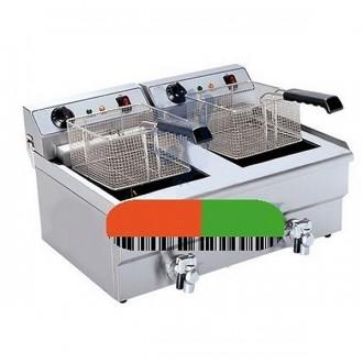 Friteuse électrique double bacs - Devis sur Techni-Contact.com - 1
