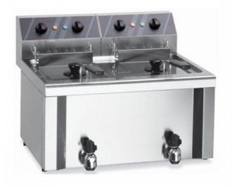 Friteuse électrique double cuve en Inox - Devis sur Techni-Contact.com - 1