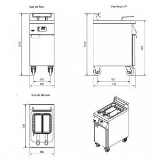 Friteuse électrique professionnelle en acier inoxydable - Devis sur Techni-Contact.com - 3