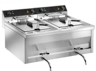Friteuse professionnelle électrique 2 bacs - Devis sur Techni-Contact.com - 1