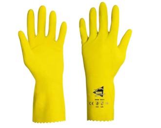 Gant de protection chimique en latex - Devis sur Techni-Contact.com - 1