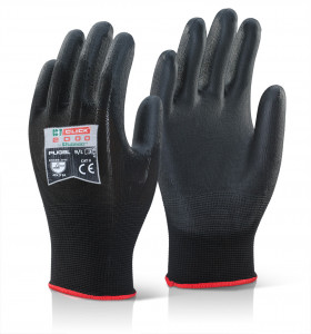 Gant enduit PU noir - Devis sur Techni-Contact.com - 1