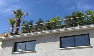 Garde-corps de toiture en aluminium et inox - Devis sur Techni-Contact.com - 2