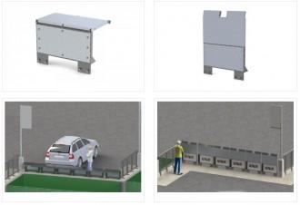 Garde corps à renforts pour déchetteries  - Devis sur Techni-Contact.com - 5