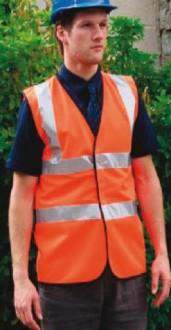 Gilet haute visibilité orange fluo - Devis sur Techni-Contact.com - 1