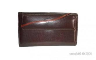 Grand portefeuille pour femme cuir marron - Devis sur Techni-Contact.com - 1
