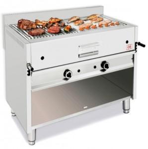 Grill à pierre de lave professionnel avec meuble ouvert - Devis sur Techni-Contact.com - 1