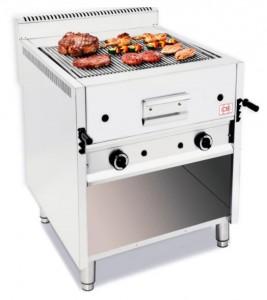 Grill à pierre de lave professionnel avec meuble ouvert - Devis sur Techni-Contact.com - 2
