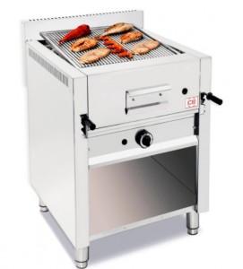 Grill à pierre de lave professionnel avec meuble ouvert - Devis sur Techni-Contact.com - 4