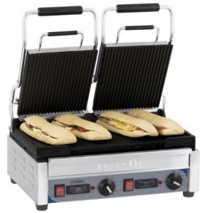 Grill panini double à plaques de cuisson rainurées - Devis sur Techni-Contact.com - 1