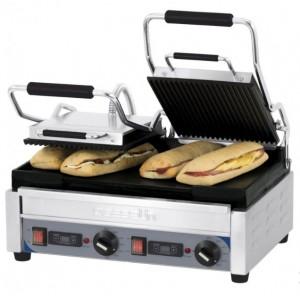 Grill panini double rainuré et lisse - Devis sur Techni-Contact.com - 1