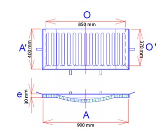 Grille avaloir concave à cadre en fonte C 250 - Devis sur Techni-Contact.com - 2