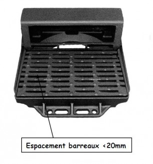 Grille avaloir fonte auto verrouillable C250 - Devis sur Techni-Contact.com - 1