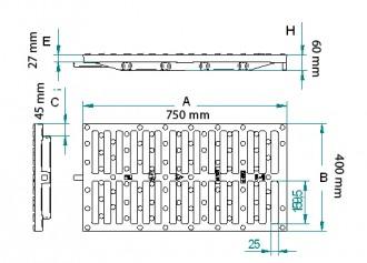 Grille caniveau à baïonnette D400 - Devis sur Techni-Contact.com - 2