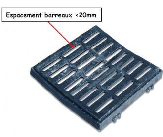 Grille caniveau à cadre concave C250 PMR - Devis sur Techni-Contact.com - 1