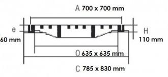 Grille caniveau à revêtement bitumineux F900 - Devis sur Techni-Contact.com - 2