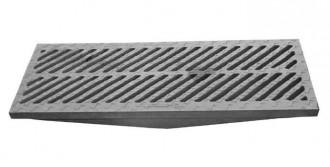 Grille caniveau avec barreaux en biais D 400 - Devis sur Techni-Contact.com - 2