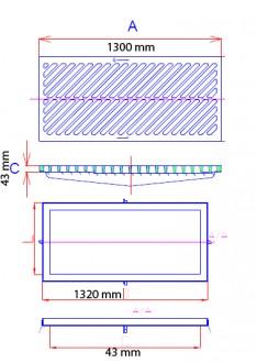 Grille caniveau avec barreaux en biais D 400 - Devis sur Techni-Contact.com - 3