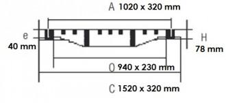 Grille caniveau de ville en fonte ductile D 400 - Devis sur Techni-Contact.com - 2