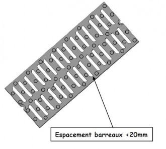 Grille caniveau en fonte PMR C 250 - Devis sur Techni-Contact.com - 1