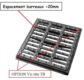 Grille caniveau plate à cadre C 250 - Devis sur Techni-Contact.com - 1