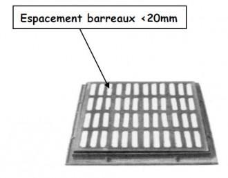 Grille caniveau PMR plate à cadre D 400 - Devis sur Techni-Contact.com - 1