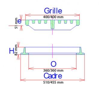 Grille caniveau PMR plate à cadre D 400 - Devis sur Techni-Contact.com - 2
