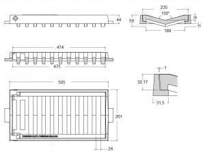 Grille concave « v »- C-250  - Devis sur Techni-Contact.com - 2
