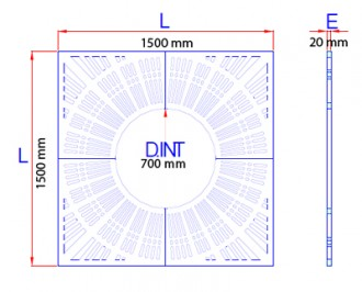 Grille d'arbre en fonte ductile noire - Devis sur Techni-Contact.com - 2