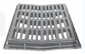 Grille de caniveau concave avec cadre D 400 - Devis sur Techni-Contact.com - 1