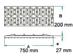 Grille de caniveau en fonte C250 - Devis sur Techni-Contact.com - 2
