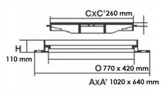 Grille de caniveau PMR réglable D 400 - Devis sur Techni-Contact.com - 2