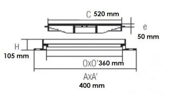 Grille de caniveau verrouillable E 600 - Devis sur Techni-Contact.com - 2