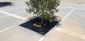 Grille de protection d'arbre en fonte et cadre en acier galvanisé - Devis sur Techni-Contact.com - 1