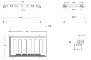Grille en fonte ductile classe C-250 - Devis sur Techni-Contact.com - 2