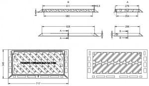 Grille et cadre inclinable C 250 - Devis sur Techni-Contact.com - 2