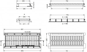 Grille et cadre inclinable C-250 - Devis sur Techni-Contact.com - 2