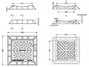 Grille inclinable concave en fonte ductile - Devis sur Techni-Contact.com - 2