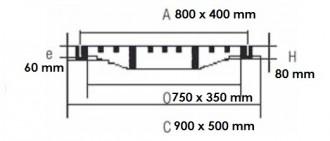 Grille rectangulaire à cadre C250 - Devis sur Techni-Contact.com - 2