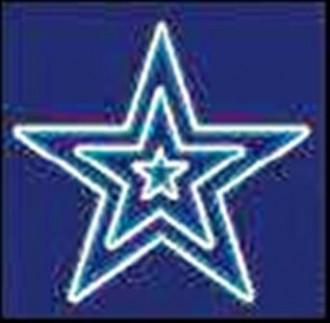 Illumination de noêl triple étoile - Devis sur Techni-Contact.com - 1