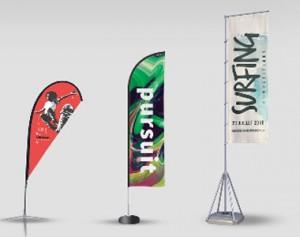 Impression drapeau publicitaire personnalisé - Devis sur Techni-Contact.com - 1